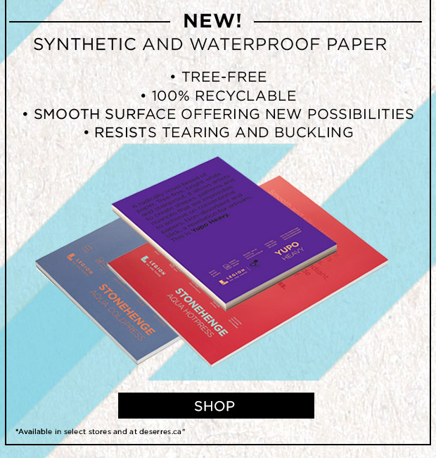 New! Synthetic and waterproof paper
